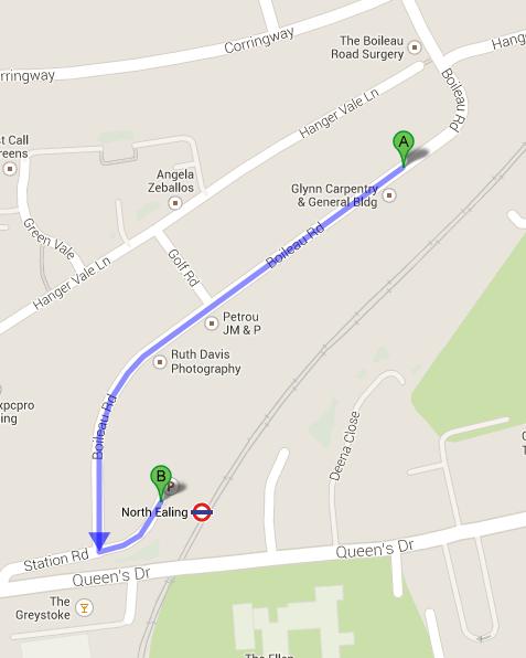 Boileau Road walking Map