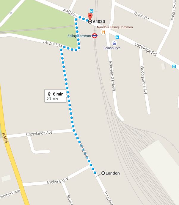 Tring Avenue Walking Route
